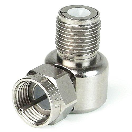 Cabelcon 90° Winkeladapter F-Buchse auf F-Stecker (1 Stück)