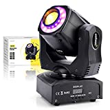 Everbeam 60W LED Moving Head Light. Sound Activated DJ Lights and DMX Light. 7x RGB Lighting and 7x GOBO for Club Lights, Stage Lights, Party Light, Disco Ball Uplighting, DJ Facade and Events