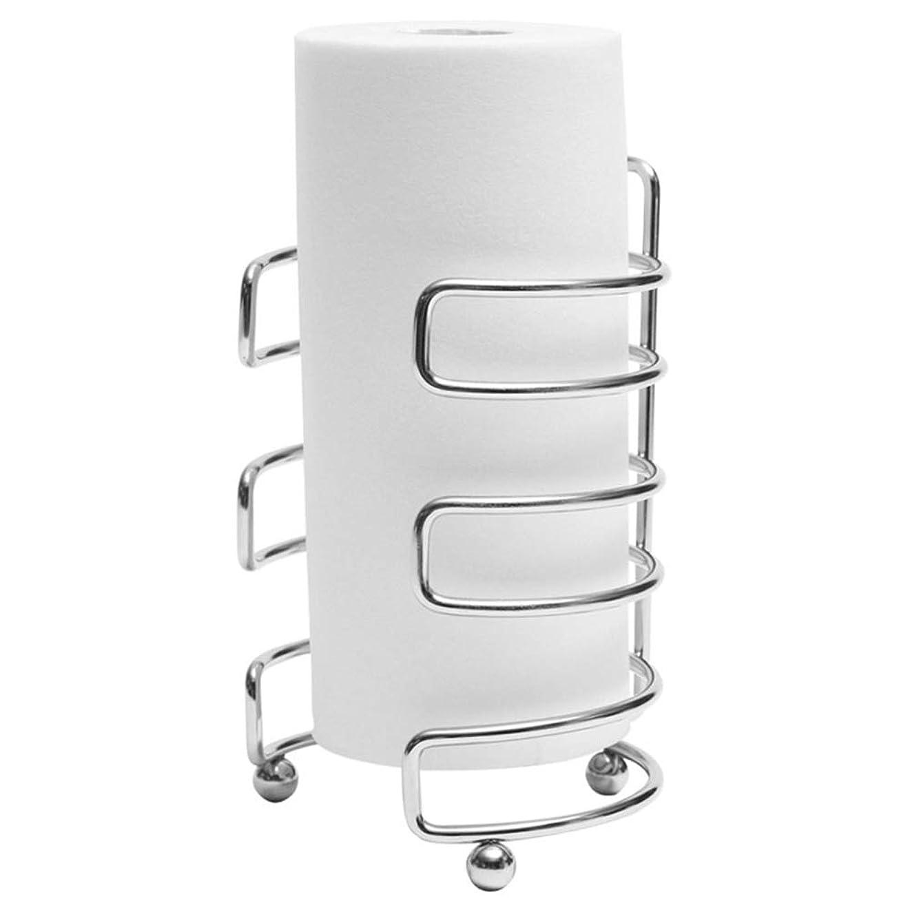 やさしいランチョンバタフライZZLX 紙タオルホルダー、クリエイティブステンレス鋼ロールホルダーキッチンペーパータオルホルダープラスチックラップホルダー ロングハンドル風呂ブラシ