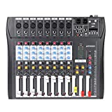 CT80S-USB 8 Channel Digital Mic Line Audio Mixing Mixer Console Wireless BT Connection with 48V Phantom Power for Recording DJ Stage Karaoke Music Appreciation