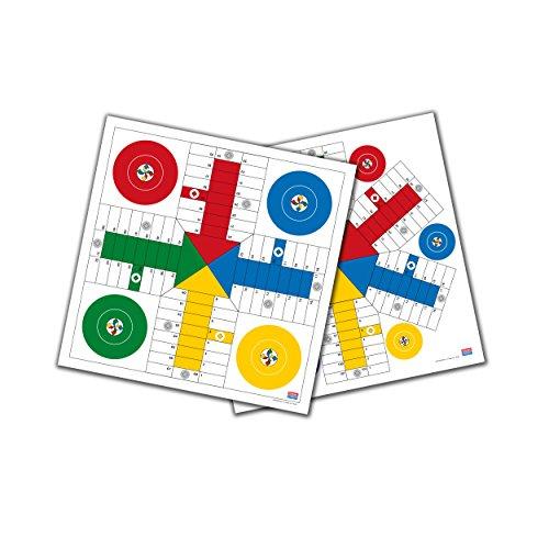 Falomir Tablero de Parchís para 4 y 6 Jugadores 40 cm Mesa. Juego Clásico. (27911)