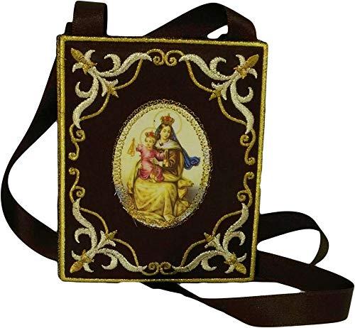 Escapulario Virgen del Carmen   10 x 8 cm.