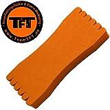 TFT Montageaufwickler 12,5x5,5x1,5cm orange - Wickelbrettchen für Vorfächer & Forellenmontagen, Wickelbrett für Forellenmontagen
