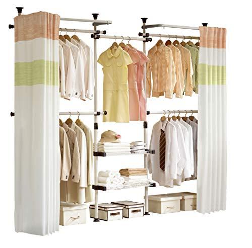 PRINCE HANGER | Deluxe 4 Tier & Shelf Hanger with Curtain | Clothing Rack | Closet Organizer | PHUS-0061, Made in Korea