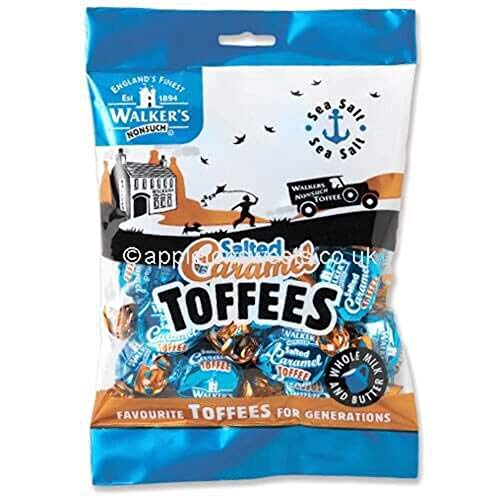 Walkers Salted Caramel Toffees 150g