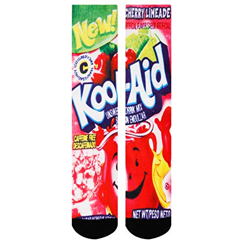 Zmart Men's Kool Aid Socks Crazy Fun Color Athletic Sports Odd Cartoon Crew Cotton Socks