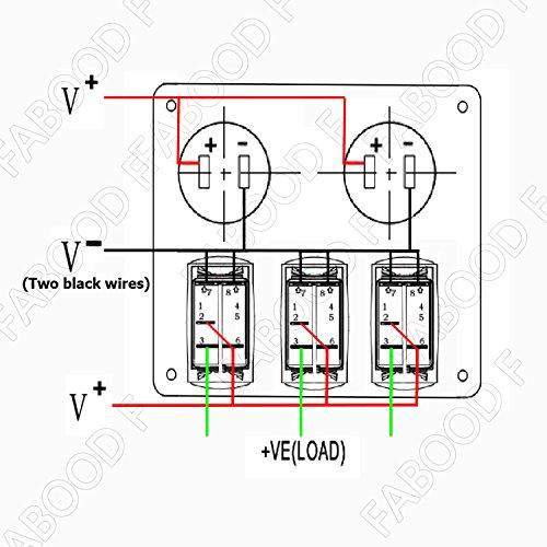 Switch Panel Fabood 3 Gang Waterproof R Buy Online In Gibraltar At Desertcart