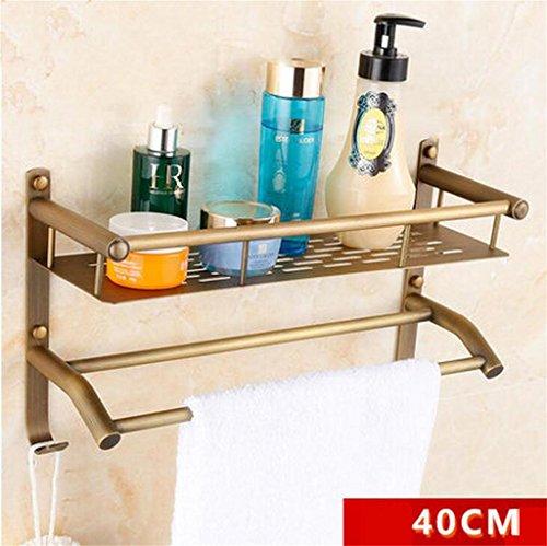 FAFZ Salle de bain Etagère, Salle de bain Etagère de style européen, Double-couche de bain rack (couleur : # 9)