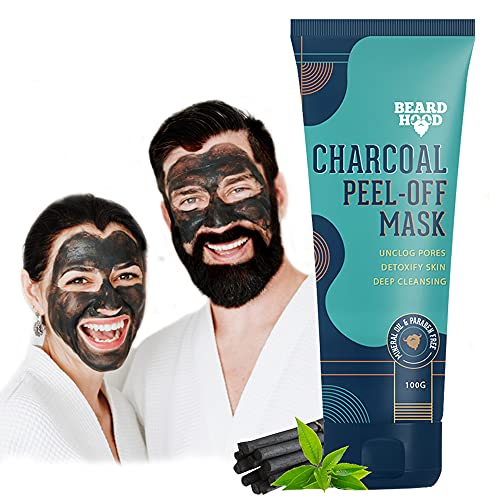 Beardhood Charcoal Peel Off Mask, 100g