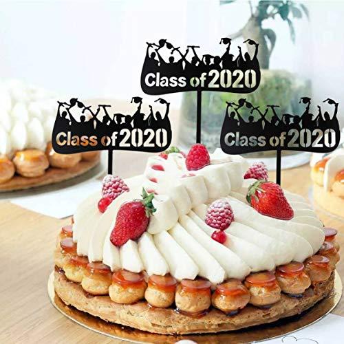 PRETYZOOM 10St Afstuderen Taart Topper Klasse Van 2020 Acryl Cupcake Picks Fruit Inzetstuk Voor Afstuderen Feestartikelen
