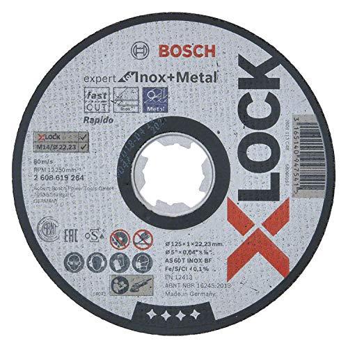 Bosch Professional gerade Trennscheibe Expert (für Inox und Metall, X-LOCK, Ø125 mm, BohrungsØ: 22,23 mm, Dicke:1 mm)
