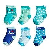 FUTURE FOUNDER Baby Socken Stoppersocken Kinder Antirutschsocken Baby 6 Paar ABS Antirutsch Socken Kinder Krabbelsocken Babysocken für 0-36 monate Kleinkind Mädchen und Junge