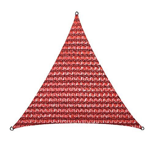 POHOVE Toldo triángulo cuadrangular para jardín al aire libre, protector de sol, vela de polietileno de alta densidad con cuerdas de polietileno resistentes