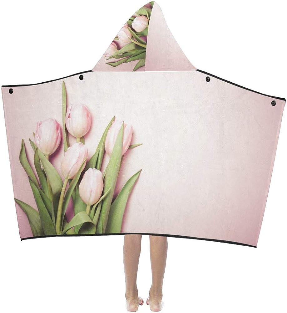 Kid Bed Blanket mart Romantic Sweet Pink Hoode Love Super popular specialty store Kids Flower Tulip