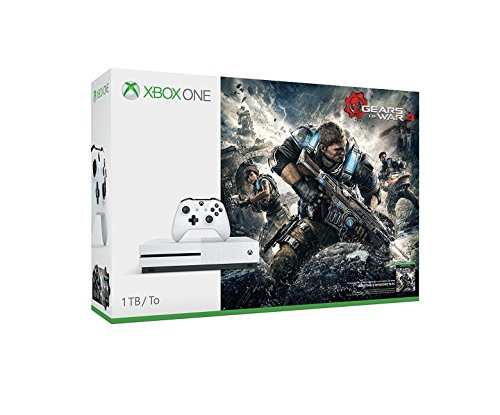 Microsoft Xbox One S Gears of War 4 1TB Console Bundle - White