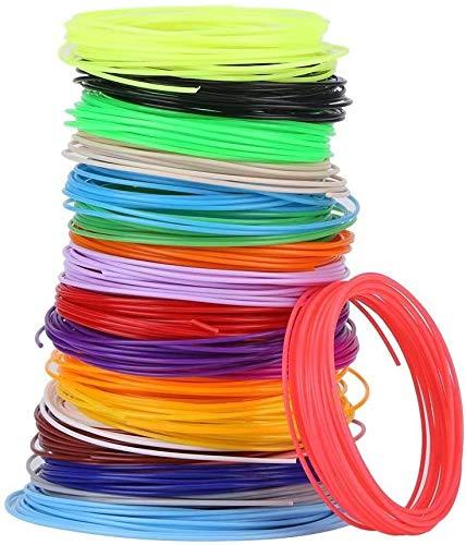 WoShen Filamento de impresión 3D, 20 colores 1.75 mm PCL Filamento recambios para impresora 3D Impresora de Baja Temperatura Computadoras y Accesorios