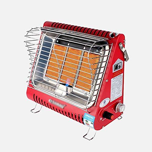 xinxinchaoshi Calefactor Portátil Calentador de terraza, Estufa de asado Interior, Calentador portátil de Gas licuado Ventilador Calefactor