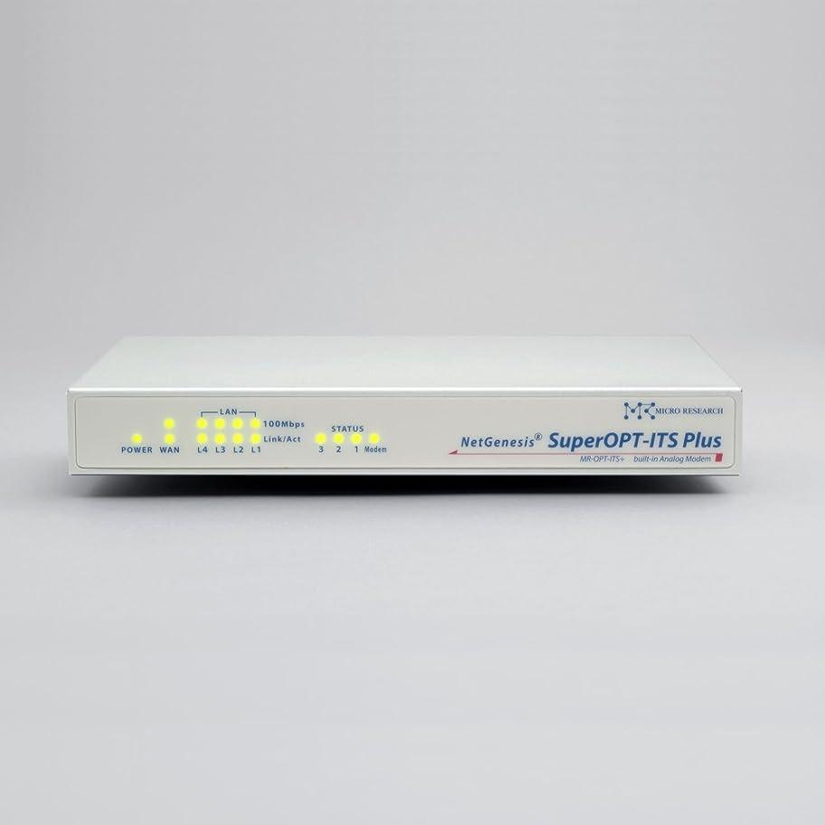 電子レンジ小競り合い強大なマイクロリサーチ NetGenesisSuperOPT-ITS Plus(アナログモデム内蔵QoS対応デュアルゲートウェイルータ) MR-OPT-ITS+