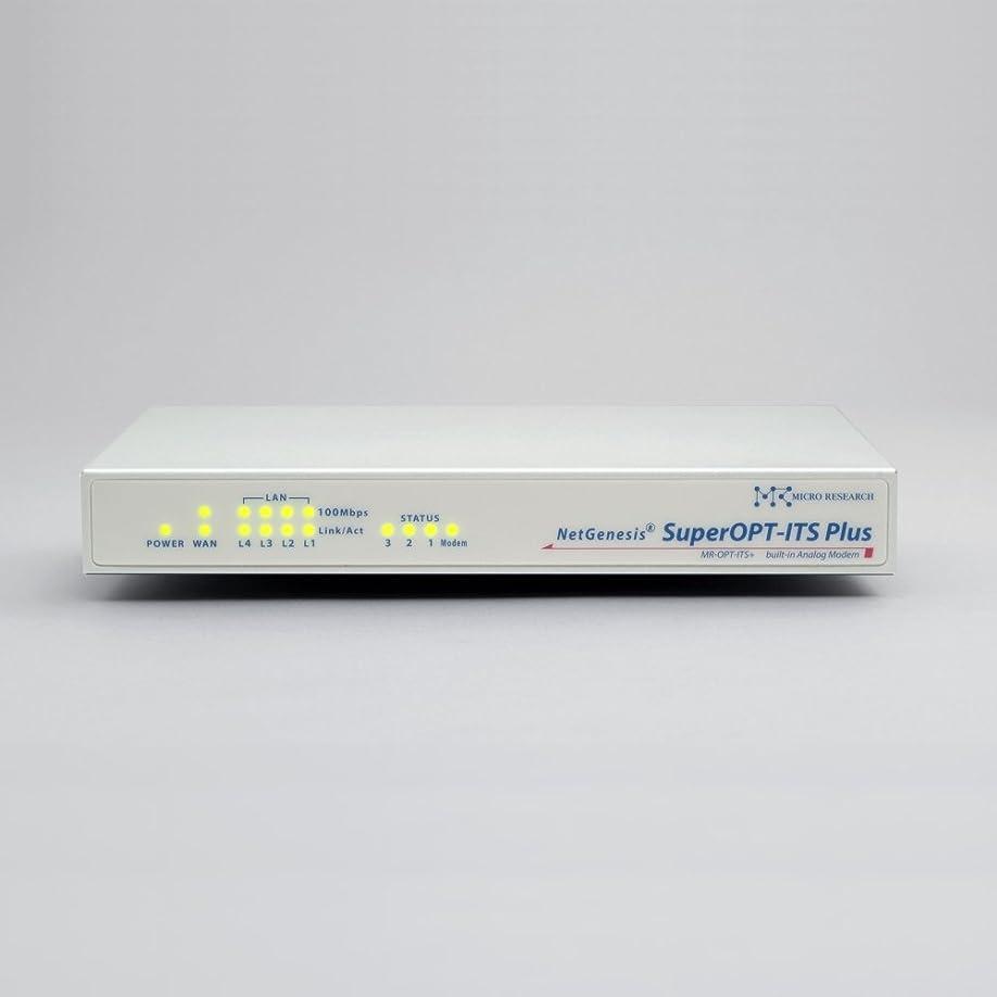 有力者ジュラシックパーク言い換えるとマイクロリサーチ NetGenesisSuperOPT-ITS Plus(アナログモデム内蔵QoS対応デュアルゲートウェイルータ) MR-OPT-ITS+