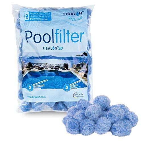 FIBALON 3D 350g hochinnovatives & hochwirksamstes Polymerfaser-Filtermaterial für Pool Sandfilteranlagen