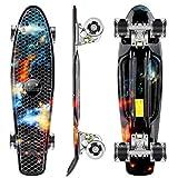 WeSkate Mini Cruiser Skateboard de 55 cm avec roues lumineuses LED pour adultes enfants garçons et filles