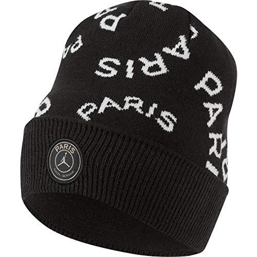 Nike Jordan Paris Saint Germain - Gorro con diseño del Paris Saint Germain, color negro, blanco y dorado
