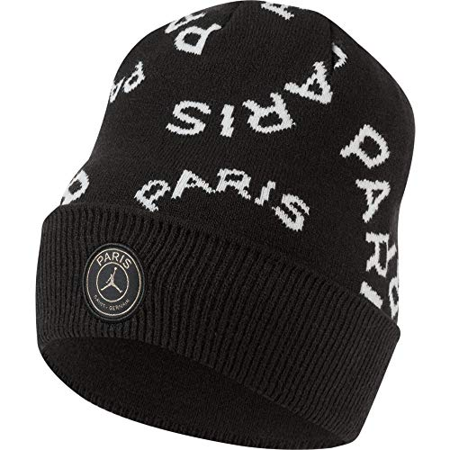 Nike Jordan Cuffed Beanie Paris Saint Germain Black/White/metallic Gold