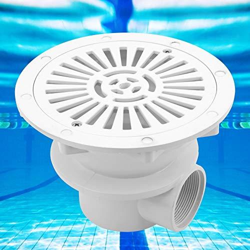 Zwindy Einfach zu installierender weißer Teich mit rundem Bodenablauf, runder Bodenablauf am Pool, ABS für Poolwartungsteile Zubehör für die Poolwartung