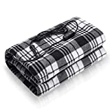 Audew Car Heated Blanket , Both 12V and 24V Electric Car Blanket with Intelligent Controller-3 Temp and 3 Time Settings, Polar Fleece Travel Throw for Car, Truck & RVs