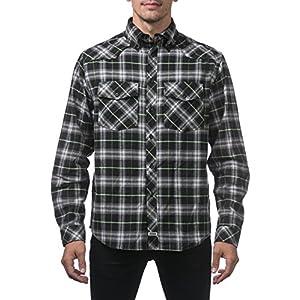 [プロクラブ] ネルシャツ 厚手 チェック柄 151 メンズ [正規代理店] ブラック/グリーン M