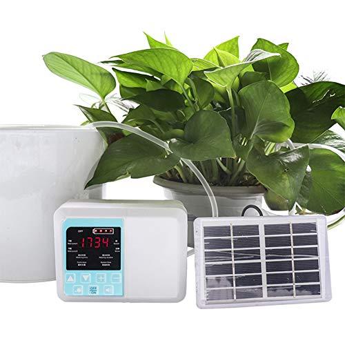 Solar Programador de Riego por Aspersión Riego Inteligente Kit Riego por Goteo con Temporizador Sistema Riego Automático para Plantas En Maceta Jardín Casa Planta Invernadero Bonsái