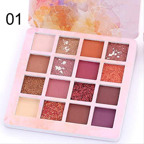 oogschaduwHot Koop 16 Kleuren Matte oogschaduw Pallete Make-up Borstels Shimmer Diamant Oogschaduw Poeder Pigment Cosmetica Professionele 01