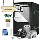 VIVOSUN Grow Tent Complete Kit, 48' x 48' x 80' Growing Tent & VS1000 Led Grow Light & 6 Inch 440 CFM Inline Fan Carbon Filter and 8ft Ducting Combo