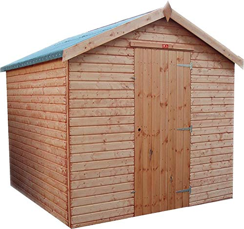 Garden shed Timber Overlapping Garden shed with Floor, Wooden Garden shed,Red Brown