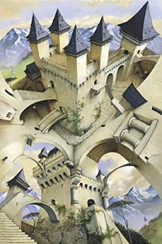 3D-Puzzles Für Erwachsene 1000 Stück - Castle of Illusion, Puzzle-Bücher Für Erwachsene Für Wohnzimmer Modern Home Decor Vatertagsgeschenk75X50Cm
