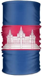 Cambodian Flag Unisex Outdoor Sport Scarf Headbands Bandana Mask Neck Gaiter Head Wrap Sweatband Headwear