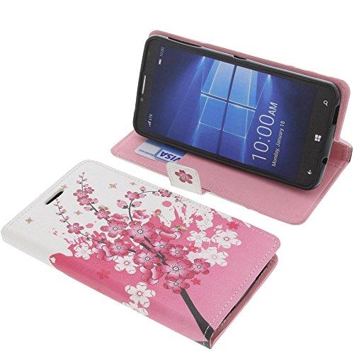 foto-kontor Tasche für Alcatel One Touch Idol 4 Pro Book Style Lila Blüte Schutz Hülle Buch