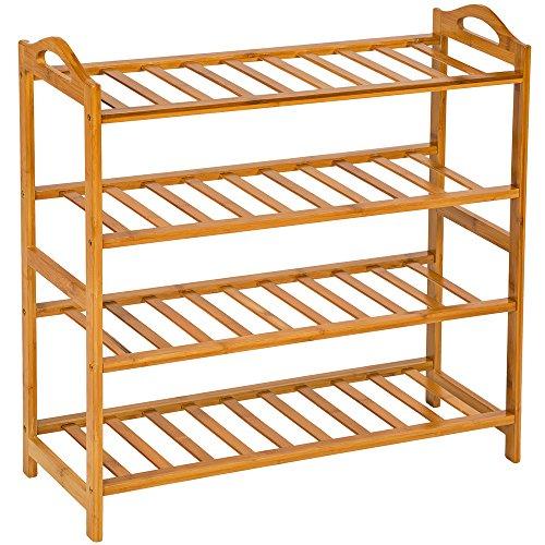 TecTake Estantería Zapatero de Madera bambú para Calzado - Varios Modelos - (67,5x26x68cm | No. 401652)