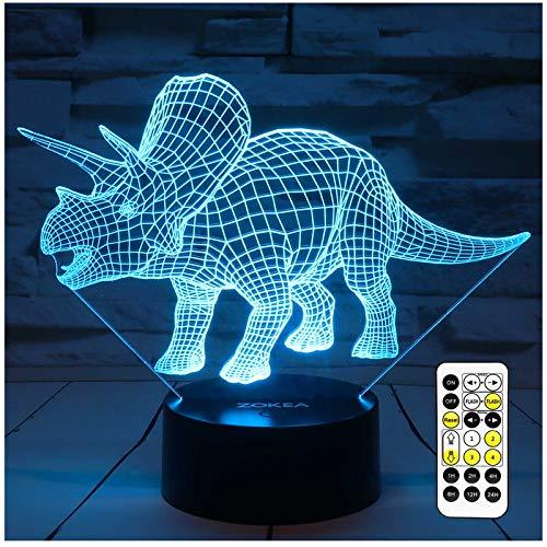 Luces de noche para niños Dinosaurio 3D ...