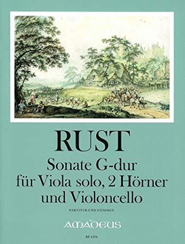 RUST F.W. - Sonata en Sol Mayor para Viola, 2 Trompas y