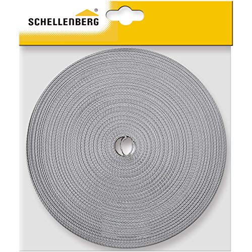 Schellenberg 11421 - Correa de persiana (14 mm, 50 m), color gris