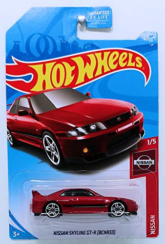 Hot Wheels 2019 Nissan Nissan Skyline GT-R (BCNR33) 6/250, Maroon