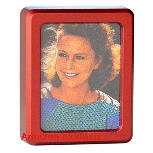 Preisvergleich Produktbild Roter Vergiss mein nicht KFZ Fotorahmen Bilderrahmen aus 1980 (Art. 9815)