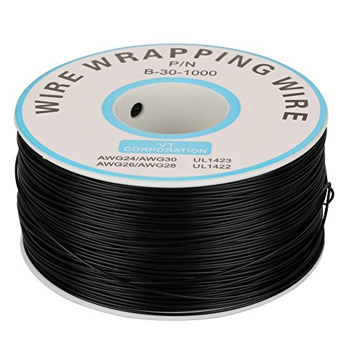 Wire-Wrapping Single Copper Wire Litze Aviation Flying Line 30AWG Kabel 0,25 mm Kerndurchmesser(Schwarz)
