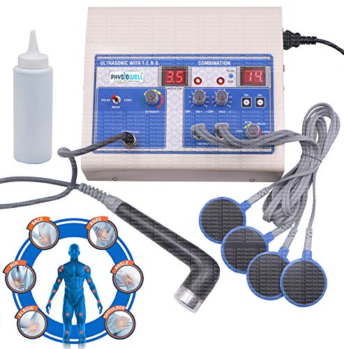 Physiowell Physiotherapy Combo Machine Ultrasonic Ultrasound US TENS 2 Channel Electro Therapy Machine for Pain Relief with 1 Year Warranty
