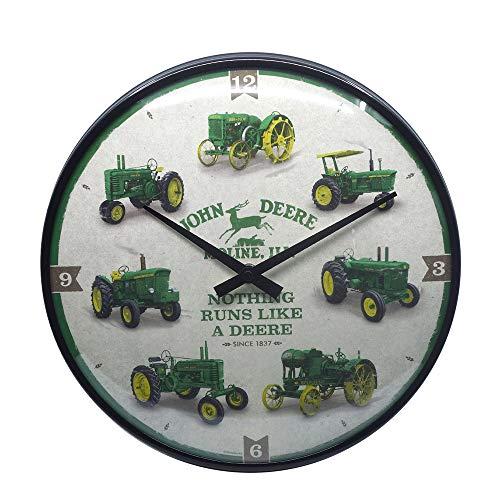 Nostalgic-Art 51094 - John Deere - Model Chart - Wanduhr 31 cm