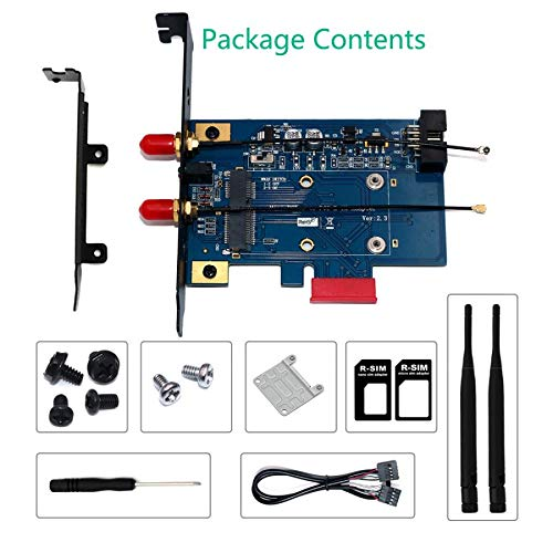 PCI-E WiFi Adapter PCIE WiFi Bluetooth Adapter Mini PCI Express to PCIE X1 Network Card for Mini PCI E WiFi 3G/4G/LTE + SIM Slot