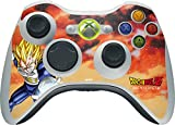 Skinit Decal Gaming Skin Compatible with Xbox 360 Wireless Controller - Officially Licensed Dragon Ball Z Dragon Ball Z Vegeta Design