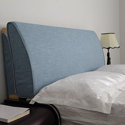 VERCART Wedge Pillow Bed Wedge Pillow Sofa Rückenlehne Kopfkissen, Keilkissen,Rückenkissen, Fernsehkissen, Ergokissen Weich Lesekissen Stützkissen Bettkissen Blau 90x50x10cm