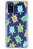 Compatible con Samsung Galaxy A41, carcasa de silicona, ultrafina, transparente, diseño de flores, antigolpes, antiarañazos para Samsung A41 teléfono móvil Beige H
